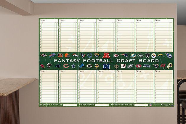 NFL Dry Erase Fantasy Draft Board