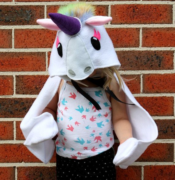 Unicorn costume dress up cape by sparrowandbcostumery on Etsy, $79.00