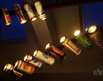 Beer can Track light / Track head by ZALcreations on Etsy