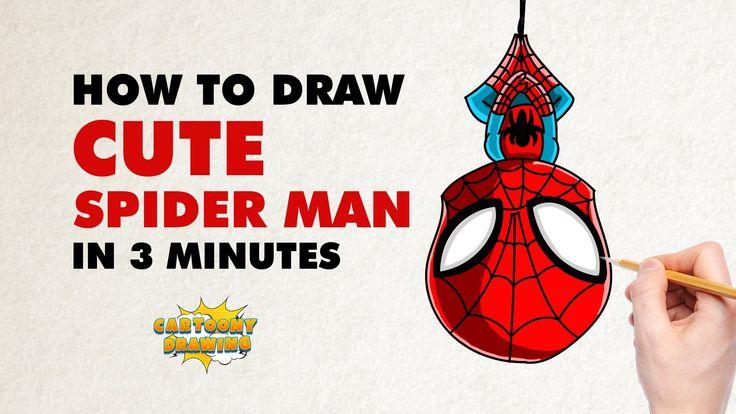 Spider Man - How to draw a super cute CIVIL WAR'S Avenger - Chibi Spider...
