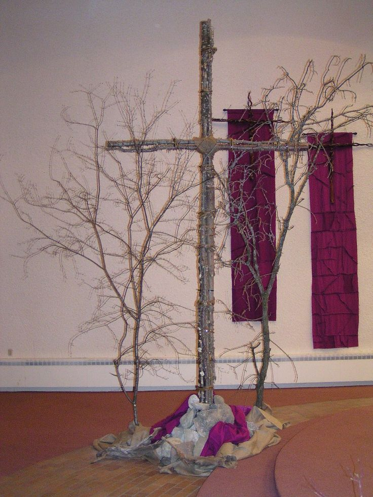 Church decor in the season of lent.