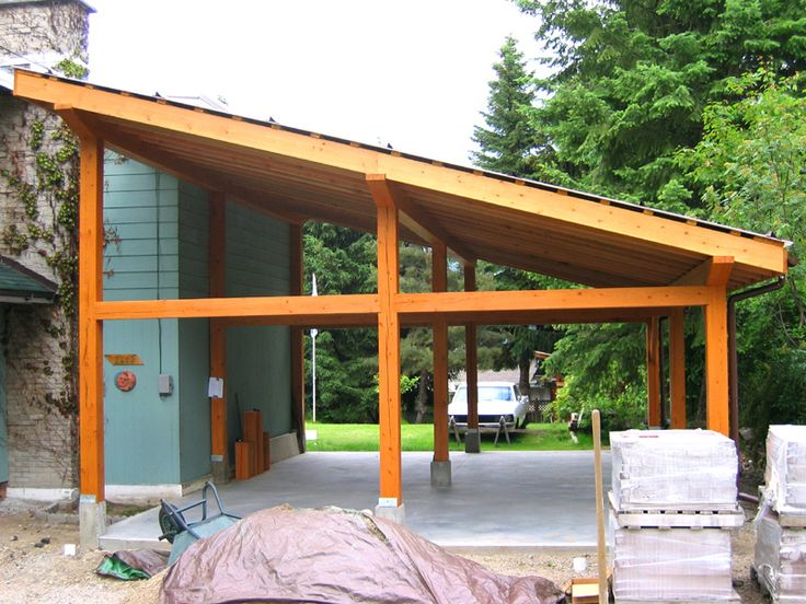 Pictures of small post and beam structure post and beam for Carport garage designs