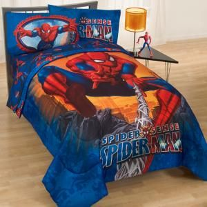 Spiderman bedding for the best Spider Man room for boys. Dont forget the wall decor and other accessories