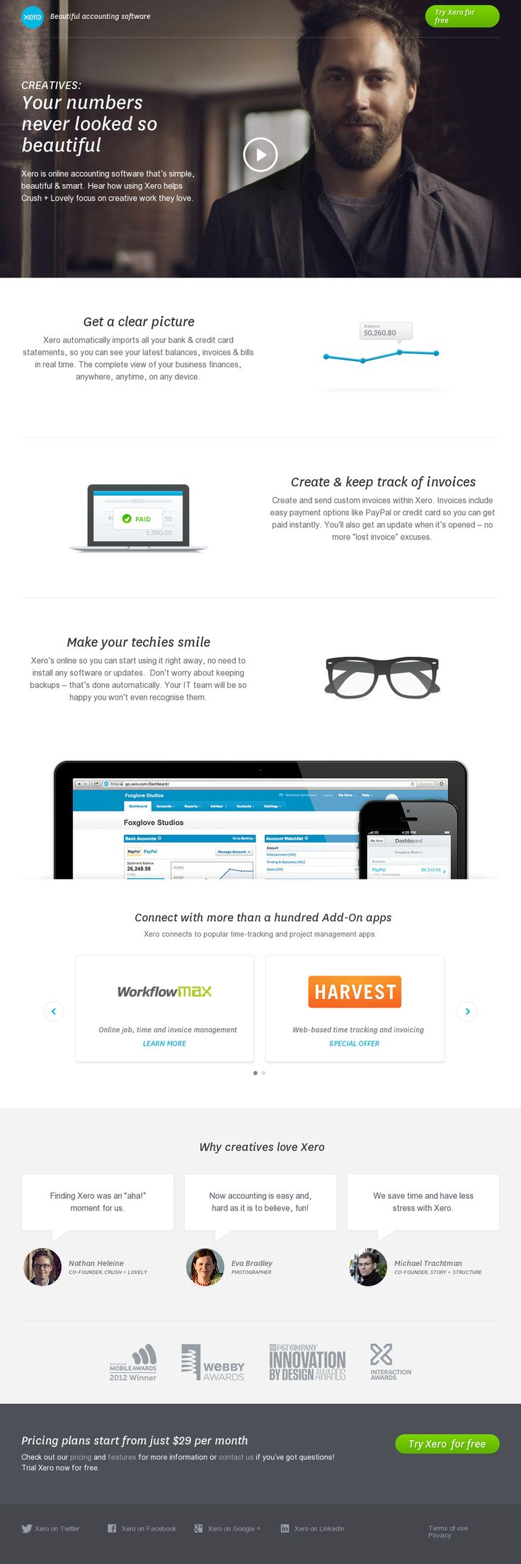 Great for creatives: http://www.xero.com/creatives/