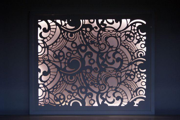guipure tableau lumineux en trois dimensions coups de coeur alm. Black Bedroom Furniture Sets. Home Design Ideas