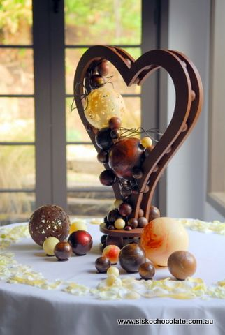 Sculpture made from chocolate...  If a guy ever made this more for me...... I'd marry them. ;)