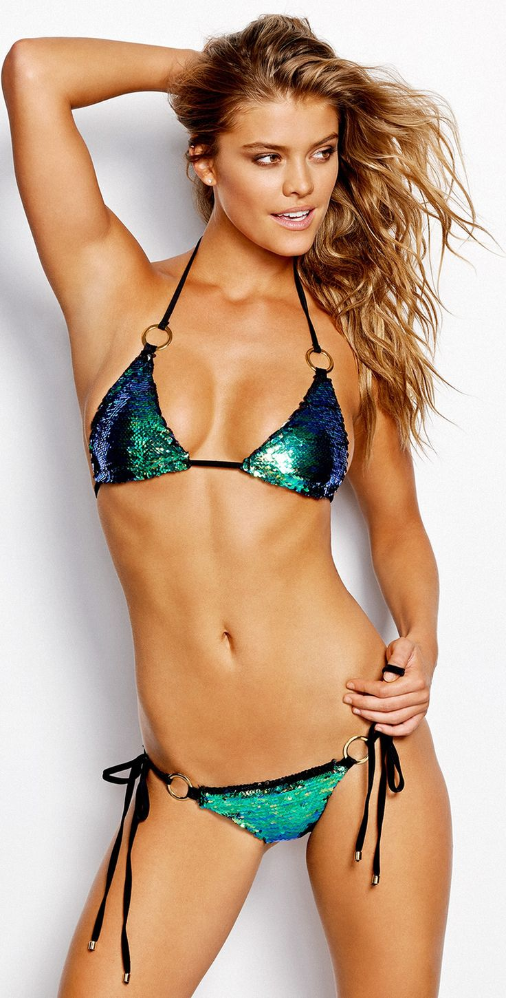 Beach Bunny Swimwear Sirens' Song Blue/Green Sequins Bikini