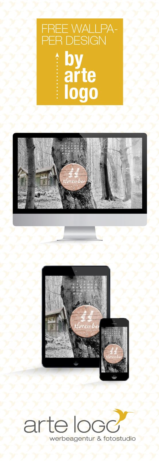 Free Wallpaper for Desktop, iPhone and iPad by arte-logo.de Free Download, Kalender 2016, selfmade, DIY, November, Zentralstation, Frischborn, Vulkanradweg, Bahnhof, Zentrale, Waldschlösschen, Wald, Hexenhaus, Winter, Lauterbach, Vogelsbergkreis, Hessen