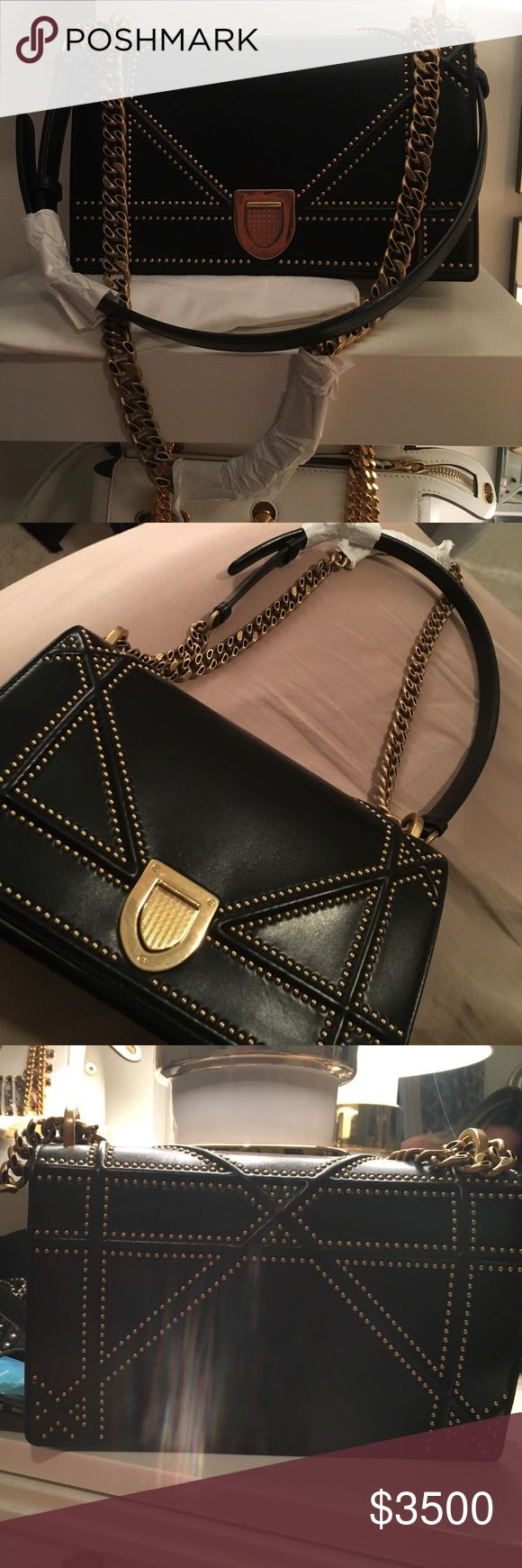 Studded Medium Diorama Calfskin Flap Bag Brand new beautiful studded diorama bag in medium size bought in Paris on avenue montaingne store.gorgeous color and style. Retail 3600+tax will give better price via paypel msg me for more questions and details Dior Bags Shoulder Bags