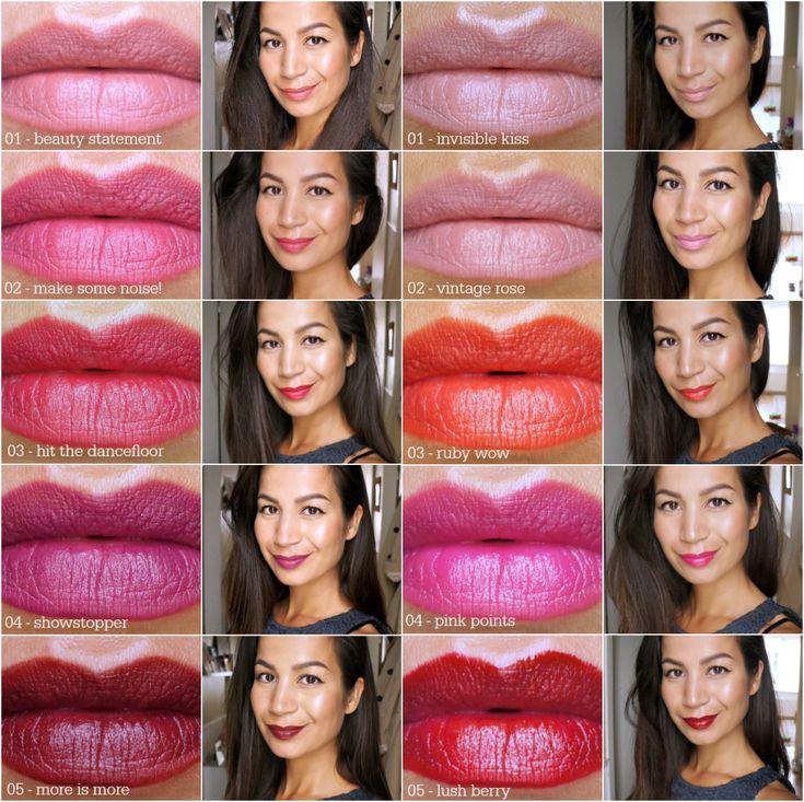 essence lipstick & liner collage