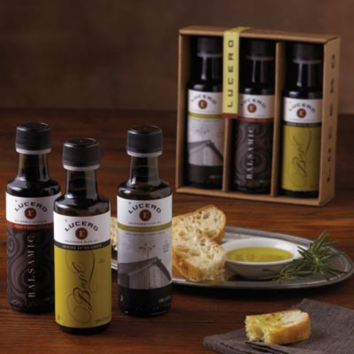 Lucero Olive Oil and Vinegar Trio | Olive Oil Gift Set...perfect hostess gift! These are amazing!