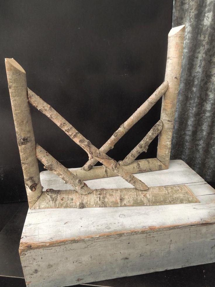 2 rustic wood shelf brackets or corner accents vintage
