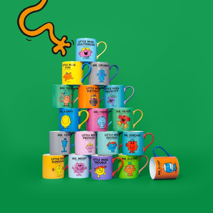 Which Mr Men or Little Miss are you?  Find your match with Wild & Wolf's Mr Men Mugs!