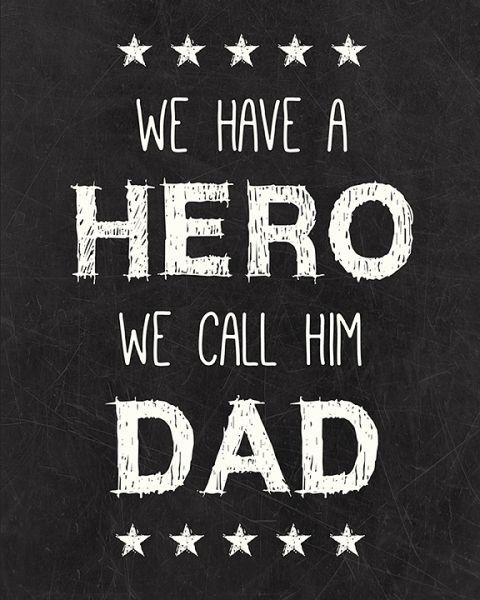 Dad Hero Printable