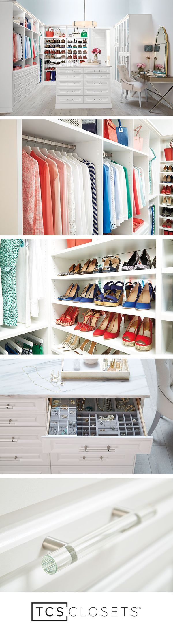 Design, Customize And Have Your Dream Closet Installed With TCS Closets By  The Container Store. TCS Closets Are Luxury Custom Walk In Closets Staged  And ...