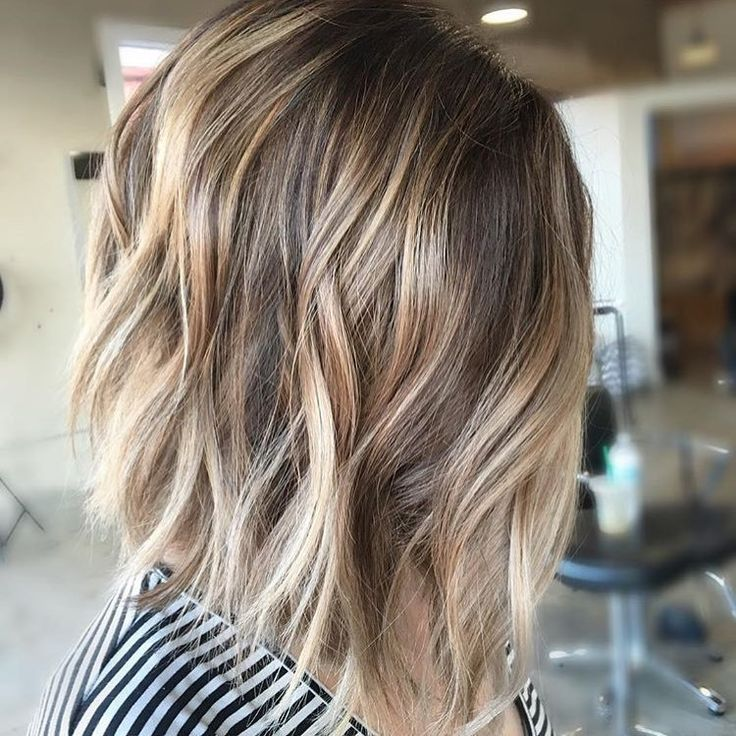Bronde+Balayage+For+Choppy+Bob