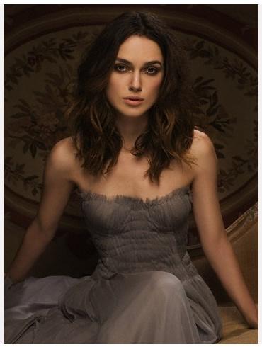 Kiera Knightly medium length hair  Hey, I like the dress