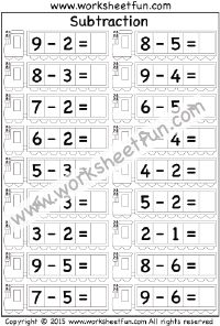 math worksheet : 1000 images about subtraction worksheets on pinterest  : 1 Digit Subtraction Worksheets