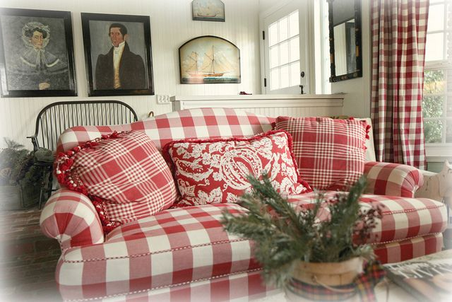 Country Plaid Sofa and Loveseat | Features Specifications Also ...