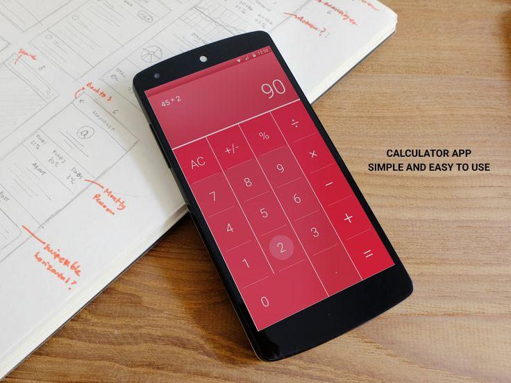 #dailyUI- 004 Calculator showcasing material design.
