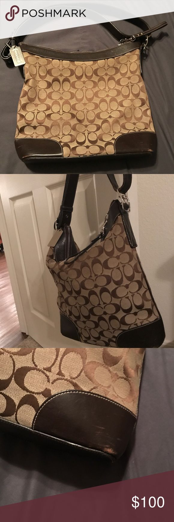 Vintage Coach Hobo Bag Authentic Vintage Coach large bag. The only wear is pictured. Very gently used. Includes Dustbag Coach Bags Shoulder Bags