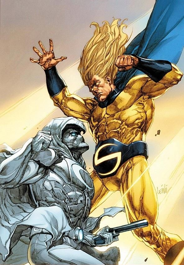 Sentry and Moon Knight-the Superman and Batman of the Marvel Universe.