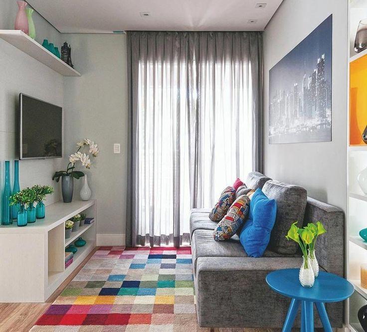 Pequenos detalhes: o tapete é uma peça chave para a decoração da sala