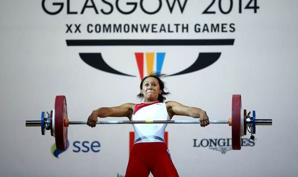 British weightlifter Zoe Smith at the 2014 Commonwealth Games