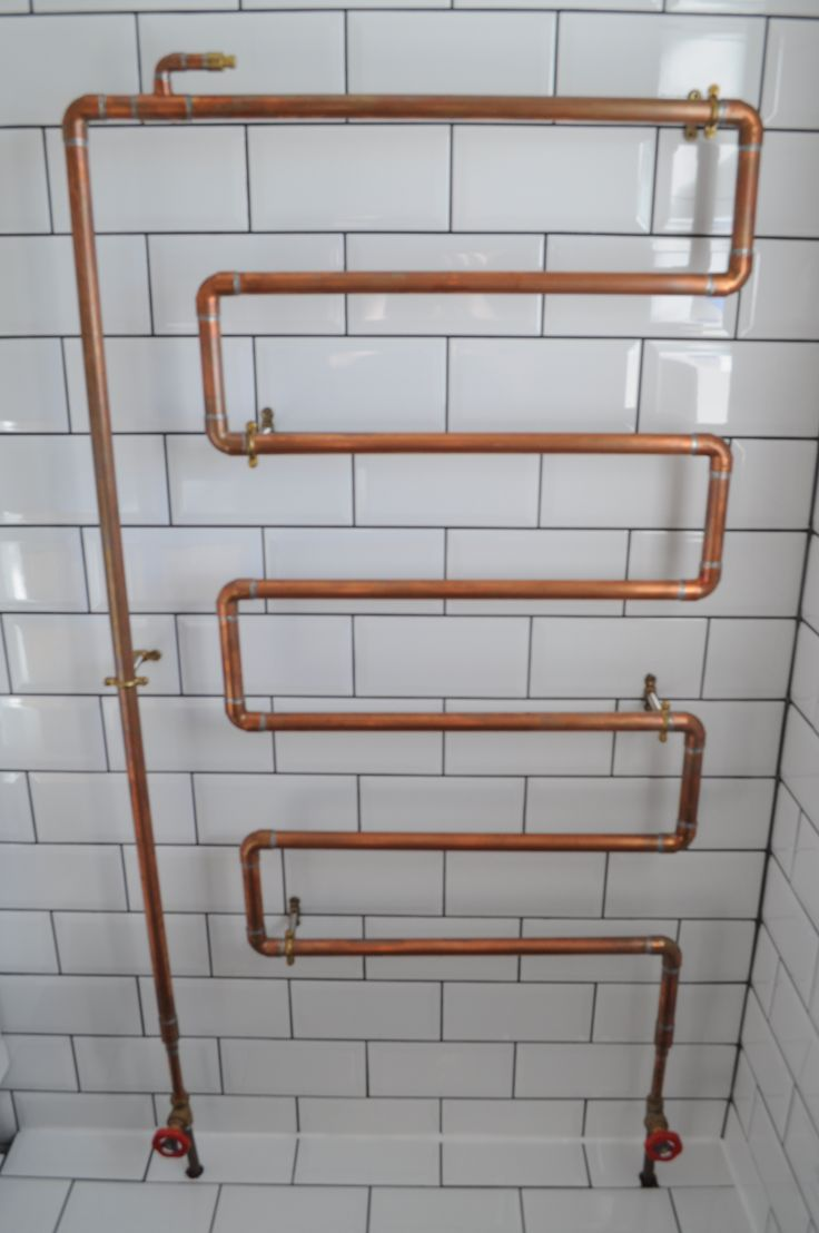 Copper Bathroom Radiator From Hand Made Tap Company In