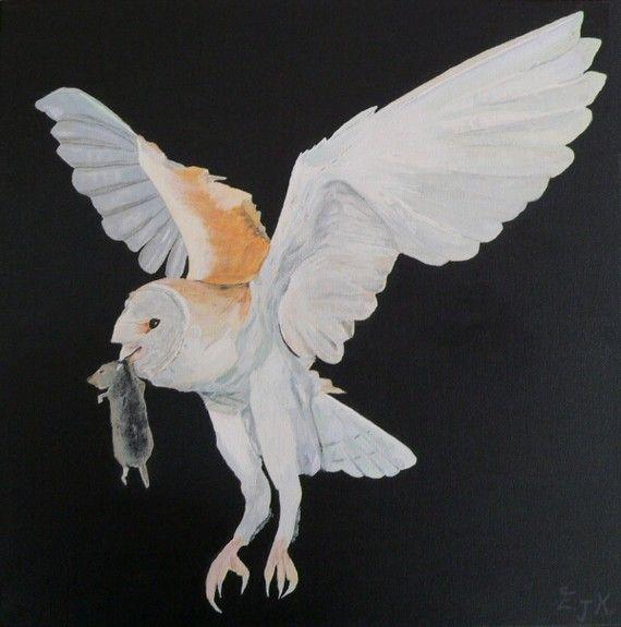 Barn Owl  Eric Kempson by ellenisworkshop on Etsy