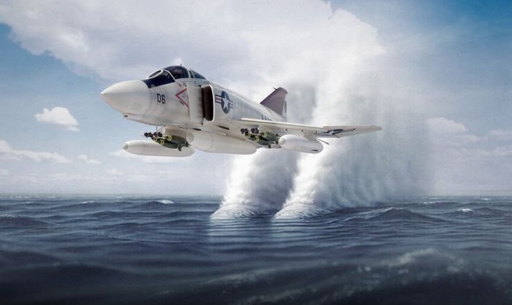 F-4 fighter jet bomber phantom airplane plane military (24) wallpaper background