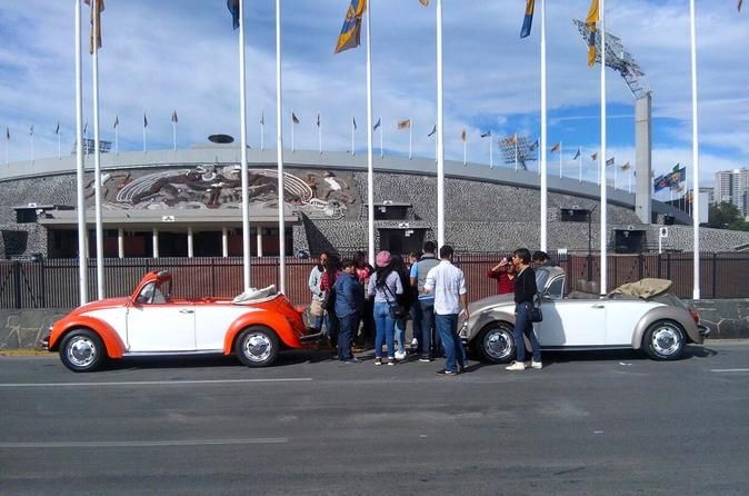 The UNAM Campus VW Beetle Convertible or Classic Combi Private Tour