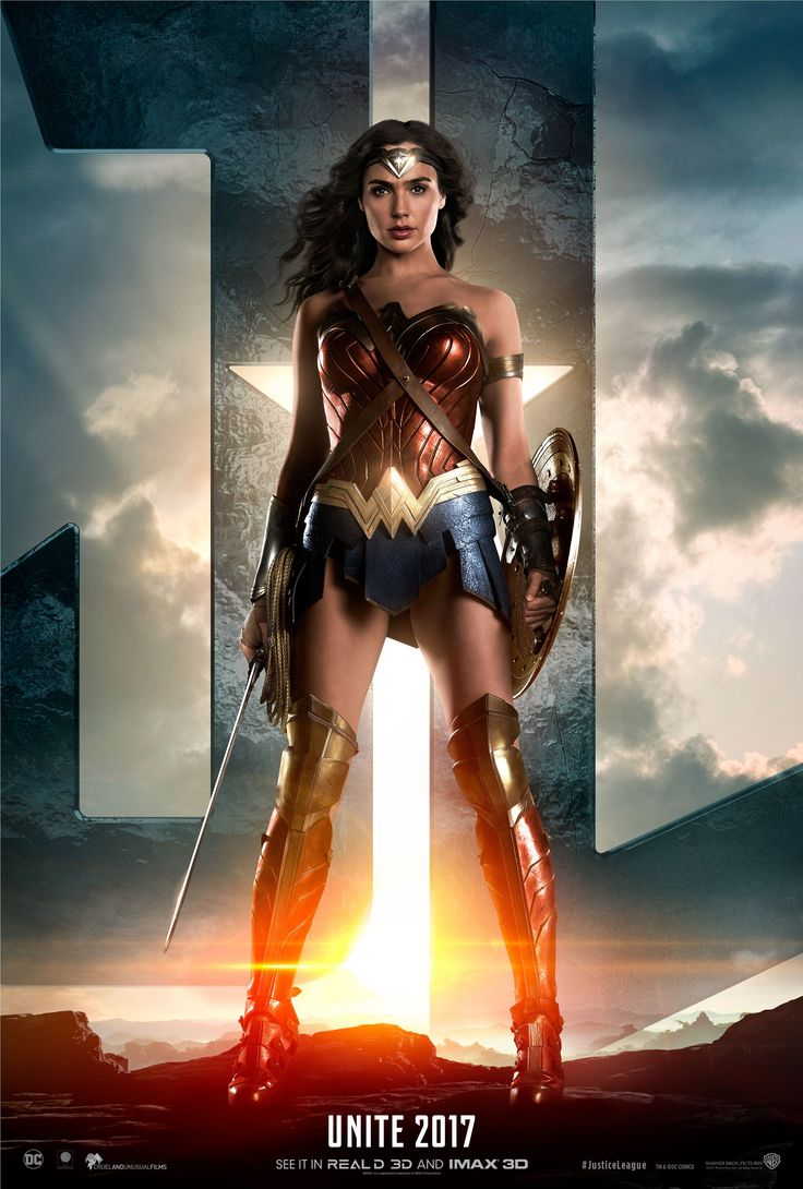 Wonder Woman poster | Starring Gal Gadot, Connie Nielsen, Amy Adams, Henry Cavill