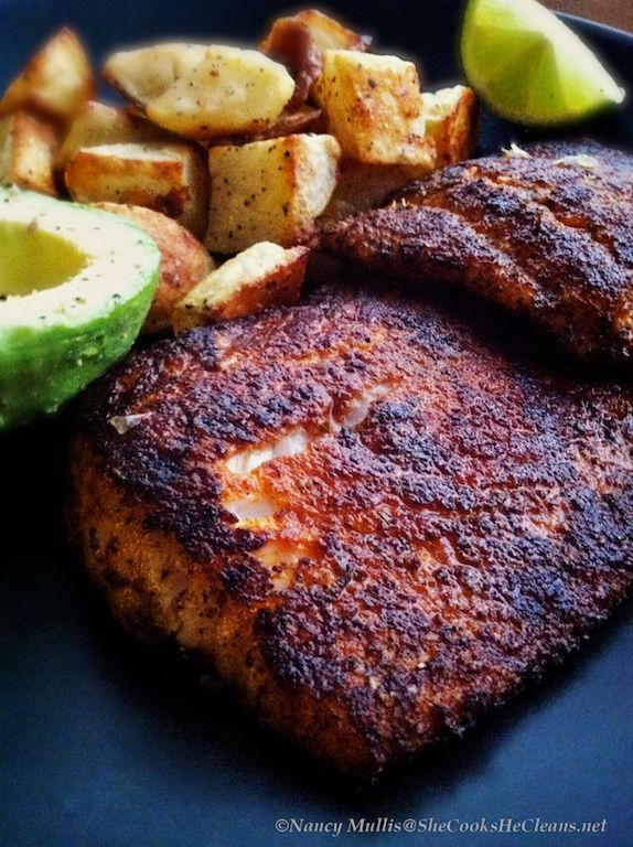 The secrets to a really tasty piece of blackened fish are 1) a really tasty Creole seasoning, and 2) not overcooking the fish. I use a slightly modified version of Emeril's recipe for Creole Seas...