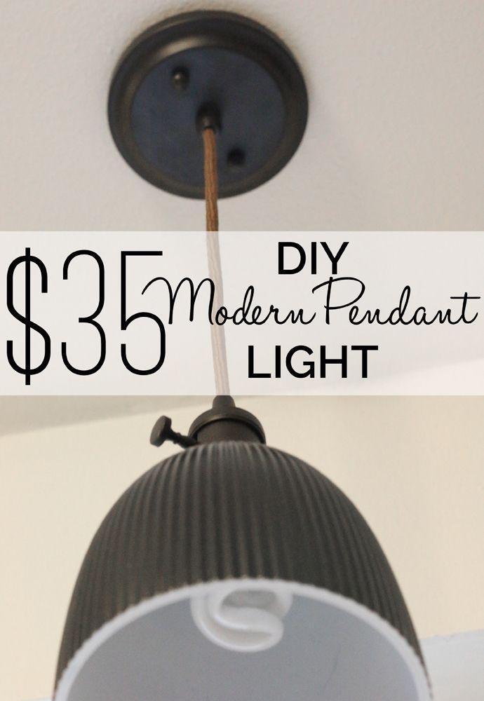 $35 DIY Modern Pendant Light