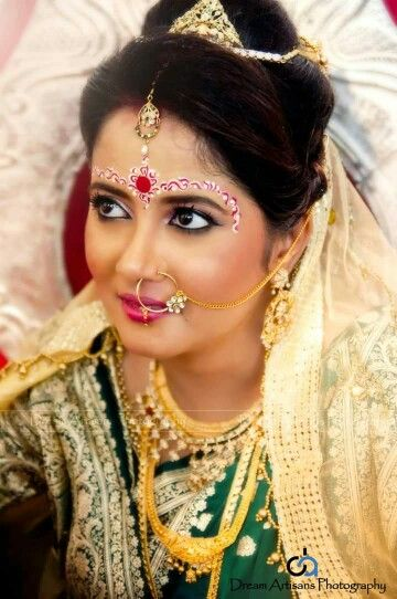 14 Best Images About Bengali Bridal Makeup On Pinterest | Receptions Wedding And Bengali Bride