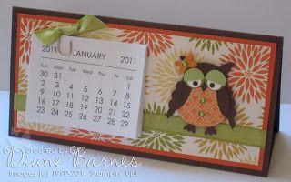 colour me happy: Mini desk calendar instructions & template