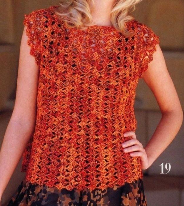 Оранжевая блузка крючком. Обсуждение на LiveInternet - Российский Сервис Онлайн-Дневников