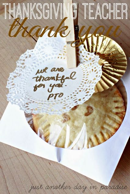 Thanksgiving Teacher Gift: Hand Pies
