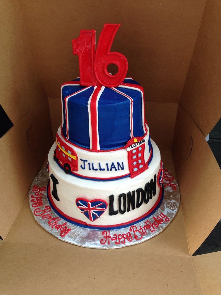Cake Design England : London, England themed birthday cake GioParty ...