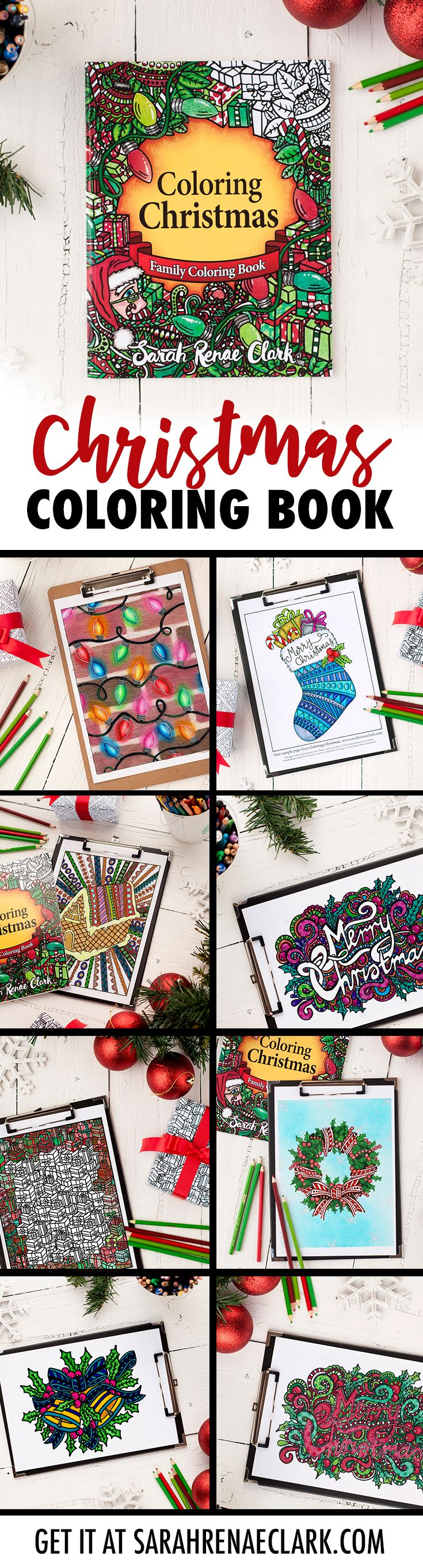 30 Christmas coloring pages - a great Christmas activity for the family! #christmas #coloringpages