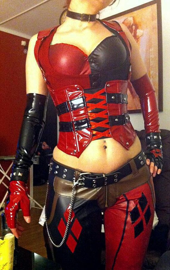 Harley Quinn Arkham City costume cosplay by SandyBoutiqueCosplay