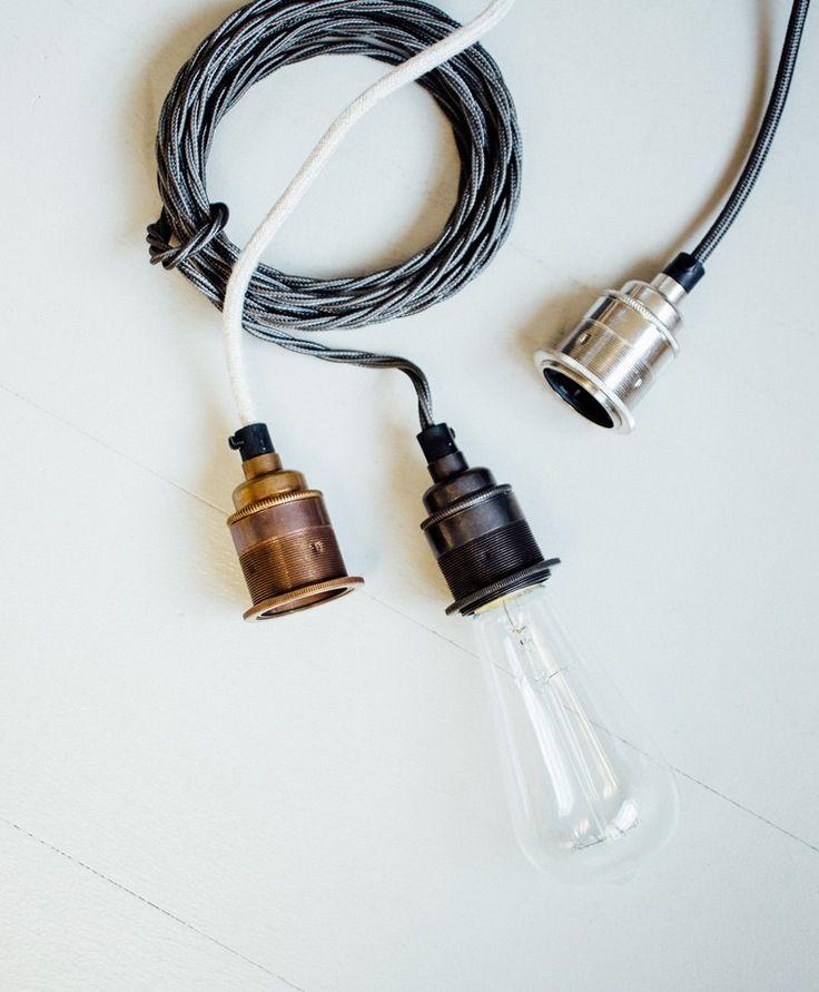 Edison shade pendant | Filament light bulb pendants | Olive