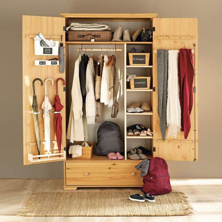 Armario básico de Ikea customizado para el recibidor EM651 El mismo armario, tres usos
