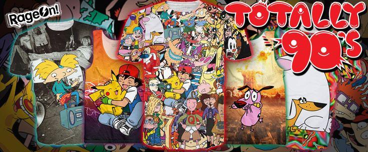 Want some really cool all over printed clothing that's a flashback? These 90's printed tees are just few off what http://www.rageon.com/?rfsn=39887.6e840 has to offer.. click on the link and find yourself something cool to rock!!!!!!!!! #cartoons
