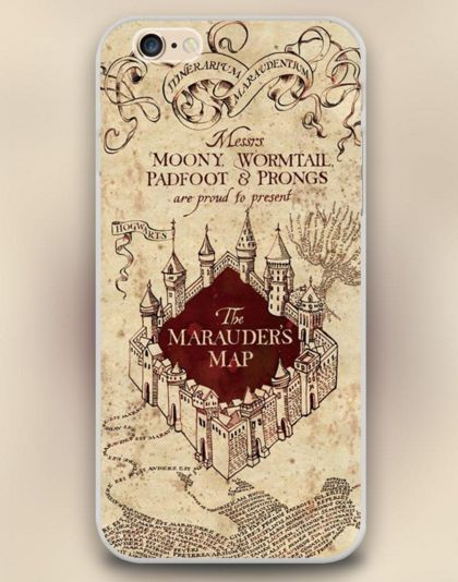 "The Marauder's map Harry Potter Design Cell Phone Cases for Apple iphone 4 4s 5 5c 5s 6 6s 6plus Hard Shell "" FREE SHIPPING """