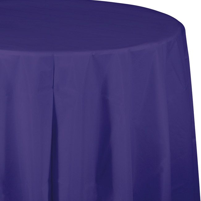 Purple Plastic Round Tablecloth Round Table Covers Round Tablecloth Plastic Table Covers