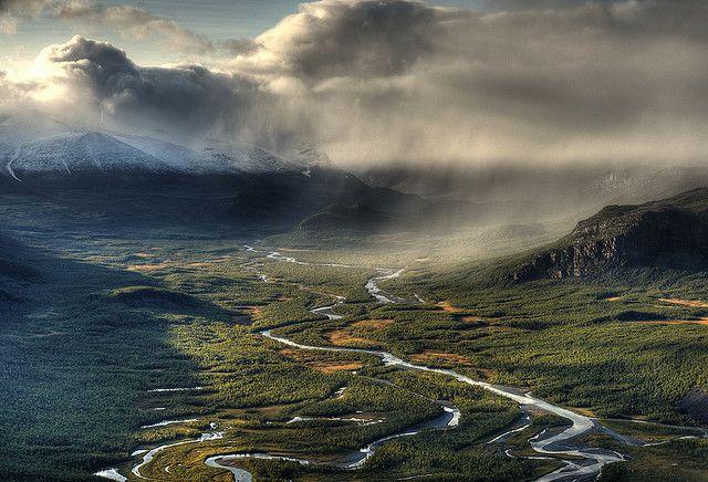 Rapa River Valley, Sarek National Park by Johan Assarsson, via Flickr