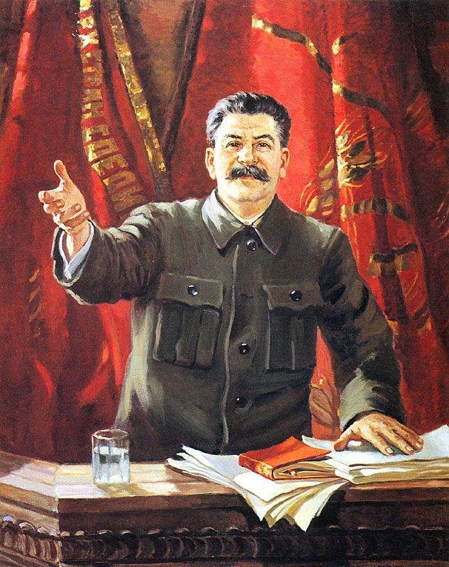 socialist realist painting of stalin
