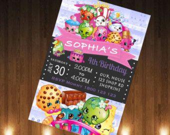 Shopkins Invitation Shopkins Invite Shopkins by MaluhiaPrints